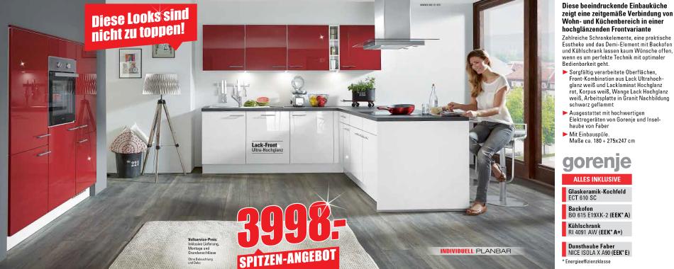 Einbauküche Mit Gorenje Elektrogeräten Möbel Und Küchen